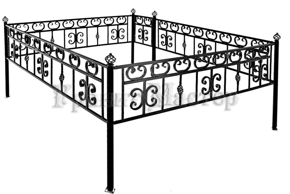 Оградка на могилу своими руками чертежи 3 на 3 36